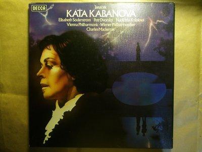 Janacek 捷克作曲家 楊納傑克 歌劇 卡嘉卡芭諾娃。2張黑膠唱片 1977 英版 DECCA 附全本歌詞