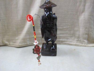 二手舖 NO.3366 天然原木木雕擺飾 姜太公釣魚 收藏擺件