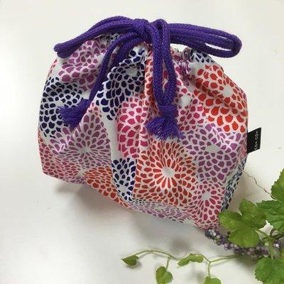 日本SOU.SOU 可愛束口袋、餐盒袋 - 繡球