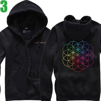 Coldplay【酷玩樂團】【A Head Full Of Dreams】連帽厚絨長袖外套(5種顏色)新款上市【賣場一】
