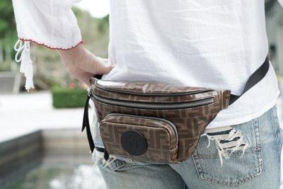 Fendi 7VA446 FF monogram belt bag FF 腰包 咖啡