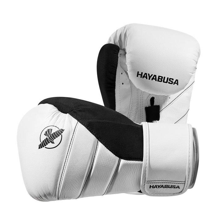 [古川小夫]高階 隼HAYABUSA拳擊手套~UFC冠軍GSP代言~頂級16oz純白色~MMA 泰拳GSP款式 白灰
