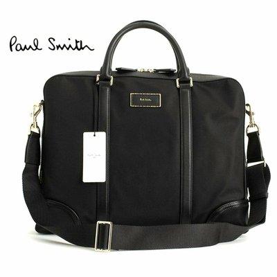 Paul Smith ( 黑色 ) 尼龍×真皮 手提包  肩背包 公事包    100%全新正品 特價!