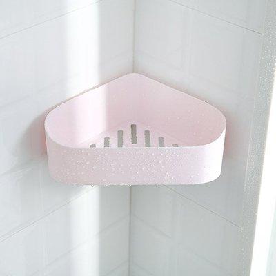 ❃彩虹小舖❃壁掛三角置物架 強力黏膠 壁掛 塑料 免打孔 廚房 收納架 衛生間 浴室 洗漱架 洗手間 【F075】