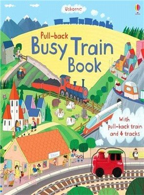 Usborne Pull-back busy train book /好忙的火車 (玩具書)
