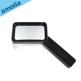 【風雅小舖】【Smolia Golf-日本品牌手持式多功能LED充電放大鏡-可充電/LED燈照明/數倍放大/觸控調光