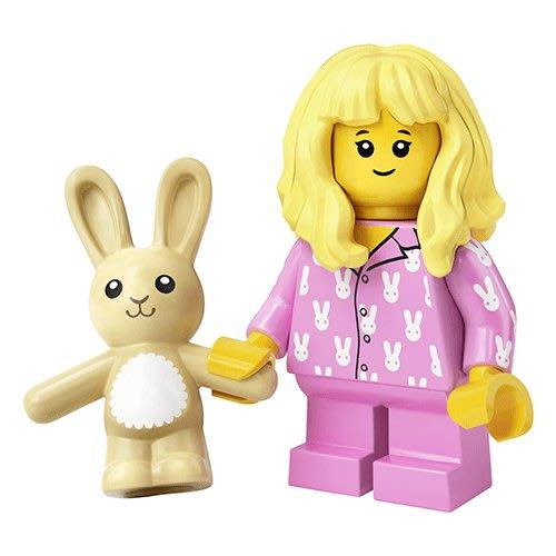 現貨【LEGO 樂高】積木/ Minifigures 人偶包系列: 20代 71027 | #15 粉紅睡衣女孩+小兔兔
