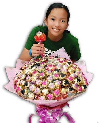 娃娃屋樂園~✿可愛米老鼠金莎花束✿二次進場 每束2300元/抽取式分享花束/第二次進場