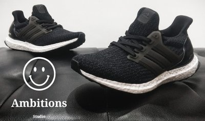 【Ambitions】ADIDAS ULTRA BOOST 3.0 黑白 馬牌底 BA8842