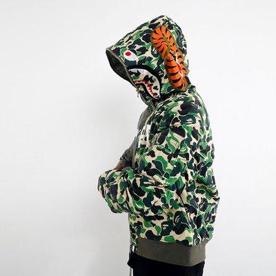 韓日美代購MKSZY自主非Readymade暴力熊外套真人版猿人頭迷彩拼接軍布棉衣