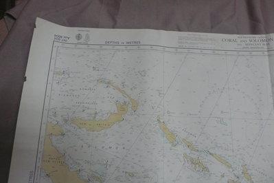 紫色小館90------DEPTHS IN METRES-CORAL AND SOLOMON SEAS