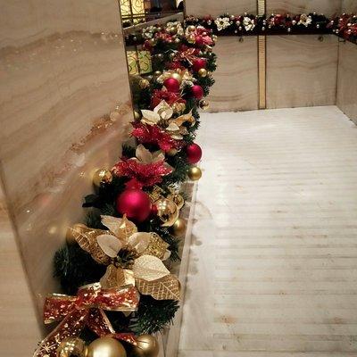 聖誕節藤條裝飾品套餐帶燈門櫥窗酒店場景布置2.8米加密藤條裝飾