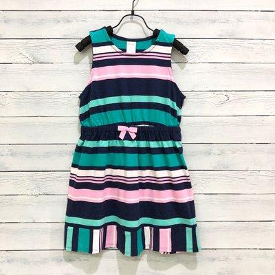 Maple麋鹿小舖 美國購買童裝品牌 GYMBOREE 女童款可愛無袖條紋洋裝 * ( 現貨5號 )