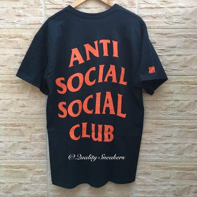 現貨 - Anti Social Social Club ASSC x Undefeated 黑色 黑橘 短T