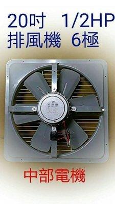 『超涼風』20吋 1/2HP 工業排風機 吸排 通風機 抽風機 電風扇 吸排扇 工廠散熱風扇 (台灣製造)