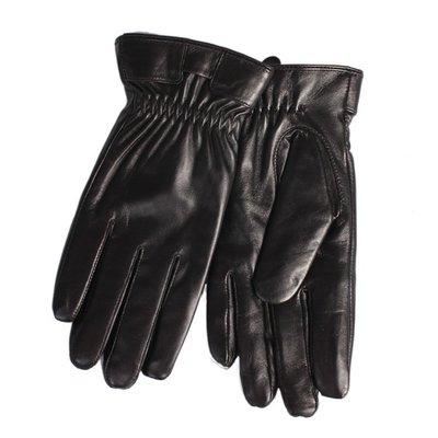 真皮手套羊皮手套-簡約保暖黑色修手男手套73wf22[獨家進口][米蘭精品]