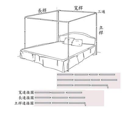 蚊帳架訂製 不鏽鋼三通蚊帳支架訂製(6*7)