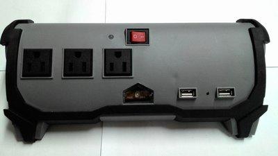 PEAK美國名牌 400W 車載 逆變器 汽車電源轉換器,12V轉110V插座*3,帶USB 5V輸出*2;充電器