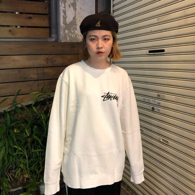 【Faithful】STUSSY STOCK PIG. DYED CREW【1914326】 大學T 白