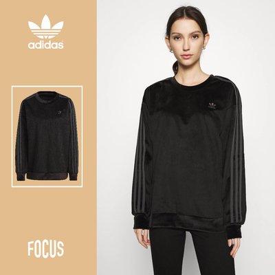 【FOCUS】全新 ADIDAS ORIGINALS COMFY CORDS 黑色 燈芯絨 長袖上衣 女款 GU0825