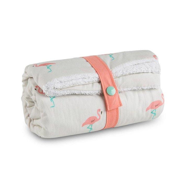 〖洋碼頭〗法國原產母嬰用品Carotte-Cie嬰兒毯嬰兒抱毯寶寶毯蓋毯火烈鳥 L3123