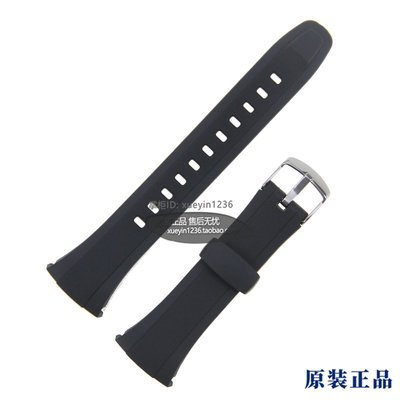 錶帶 手錶帶 原裝卡西歐表帶WVA-M640/ M650/ WVQ-M410B手表帶黑色樹脂帶男女表 台北市