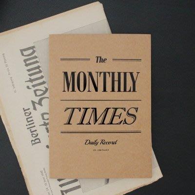 ♀高麗妹♀韓國 seeso THE MONTHLY TIMES 原味廣場 萬年月記事行事曆/萬用A5筆記本(預購)