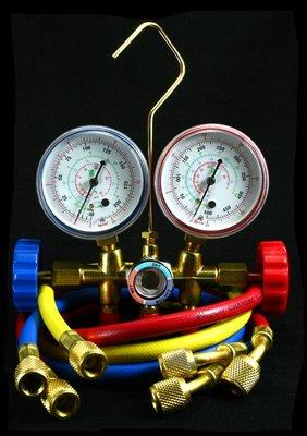 冷媒錶組 90cm冷媒管 manifold set R12 R22 R134 R404冷媒專用 冷氣