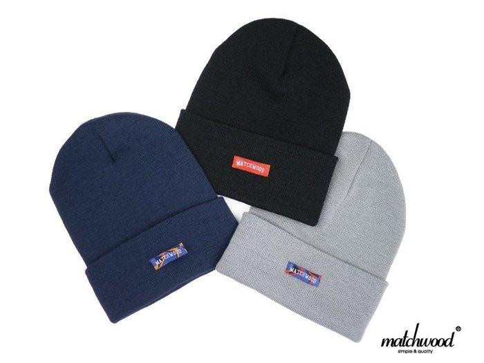 { POISON } MATCHWOOD COLLEGE LOGO BEANIE 毛帽針織帽 長版可反摺 2015多色款