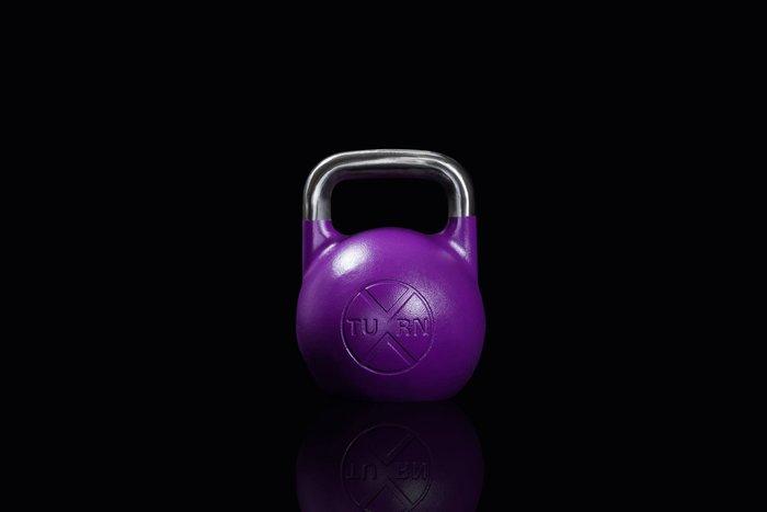 【神拳阿凱】TURN 一體成型 競技壺鈴 20kg 紫色