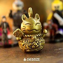 黃銅 銅飾 復古  原創-- 招財貓幸運貓鑰匙扣車鑰匙扣銅鑰匙扣
