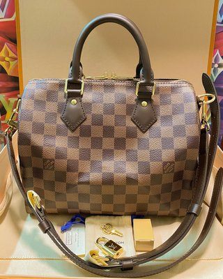 LV N41368 Damier 斜孭 Speedy 25  100% New