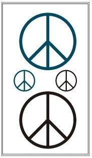 【貼貼屋】刺青紋身貼紙 Tatto 反戰和平peace符號