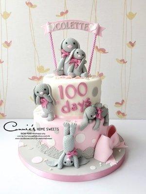 【Connie's Home Sweets】3D蛋糕 百日宴蛋糕 生日蛋糕 100 days cake birthday cake custom made cake