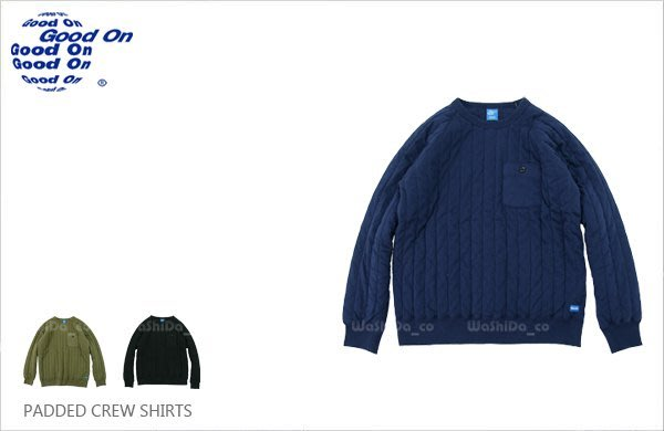 WaShiDa【GOBW1411C】Good On 日本品牌 染色 鋪棉 壓紋 長袖 大學T 棉T T恤