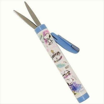 ☆愛莉詩☆日本帶回~史努比手繪圖案筆型安全剪刀