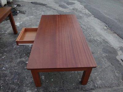 B020 {崙頂傳統原木家具行}~黃松木實木餐桌+黃松木實木客廳抽屜桌    請先詢問