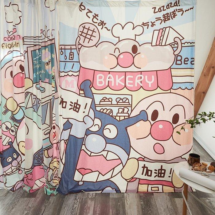 創意 居家裝飾 韓國臥室陽臺北歐現代簡約隔斷簾卡通兒童房韓式飄窗窗簾遮光