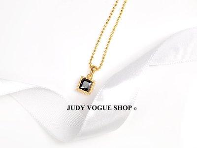 韓國 項鍊 低調個性天然黑石鎖骨項鍊 簡約個性項鍊 JUDY VOGUE SHOP【JNE-0006】