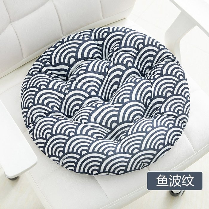 SX千貨鋪-圓形坐墊墊子電腦坐椅墊辦公室棉麻椅墊餐桌椅子四季加厚透氣家用