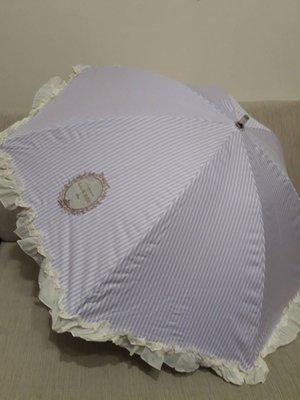 天使熊小鋪~LADUREE 條紋圖案 2段晴/雨兩用傘~全新現貨~