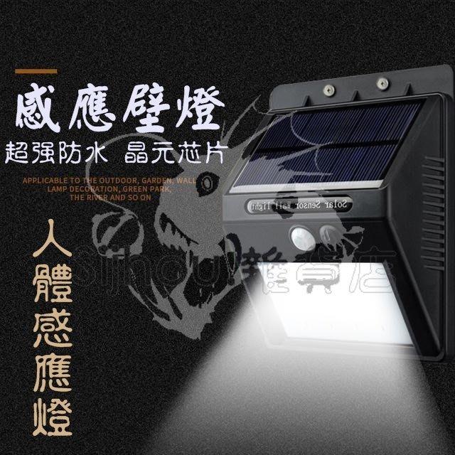 太陽能感應燈 30LED路燈 光控感應+光控感應+人體感應 壁燈 照明燈 防水太陽能壁燈 頭燈