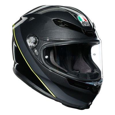 瀧澤部品 義大利 AGV K6 全罩安全帽 MINIMAL 黃黑銀 碳纖複合纖維 彩繪 K-6 亞洲版 透氣舒適 雙D扣
