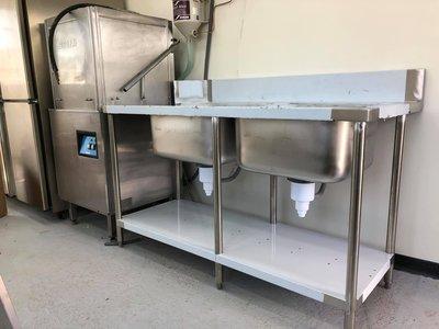 洗碗機專用水槽/304白鐵不銹鋼水槽/單槽簡易帶支架平臺洗手盆/單槽流理台