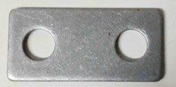 沖壓製造加工 2mm 厚 鐵片 40*19mm (打孔8.2mm)