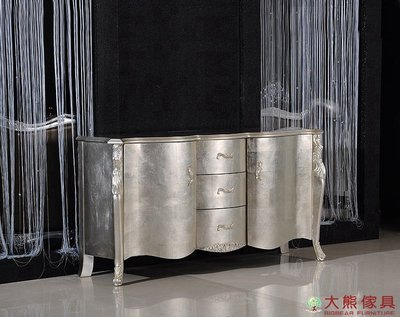 【大熊傢俱】 CY0320 曲美 新古典餐邊櫃 儲物櫃 餐盤櫥櫃 收納櫃 電視櫃 邊櫃 歐式 玄關櫃 法式