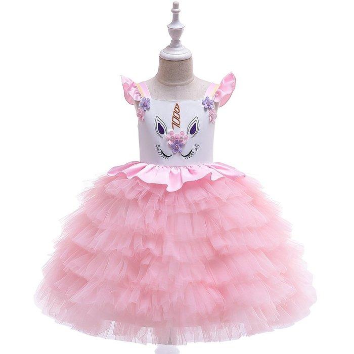 •*~ 辣媽咪衣飾小舖 ~*•❤童裝系列❤K970494韓版大童夏款甜美清新時尚蓬蓬蕾絲亮片可愛公主禮服公主洋裝