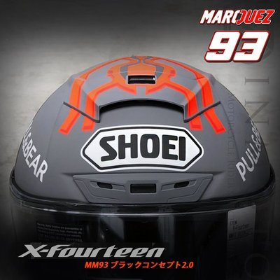 伊摩多※公司貨 日本SHOEI X-14 Marquez Black Concept2 MM93 X-Spirit
