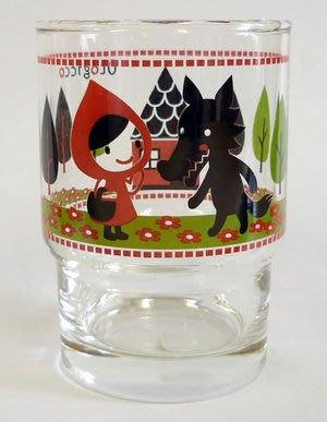 *凱西小舖*日本進口正版Otogicco小紅帽&大野郎玻璃水杯