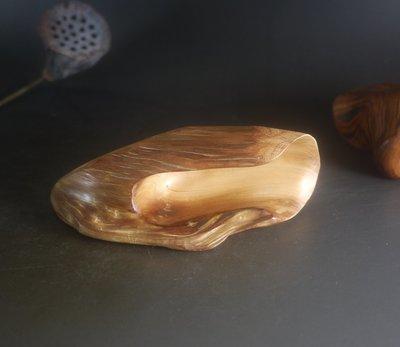 崖柏 陳化紅油 隨形 - 茶則 茶匙 粉杓  - 全手工製- 重油 無漆 無蠟 - B256
